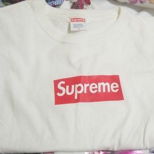 Supreme Pre Shrunk  Box Logo White
